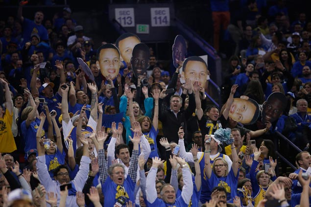 The Warriors' fanbase have grown by leaps and bounds over the last few years. AP