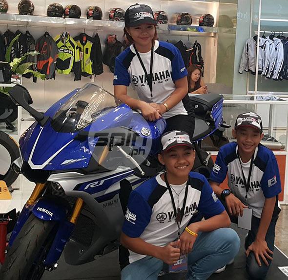 Young members of the Yamaha KOSO Racing Team