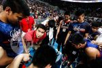 Coach Aldin Ayo breaks down in tears after steering Letran to NCAA title
