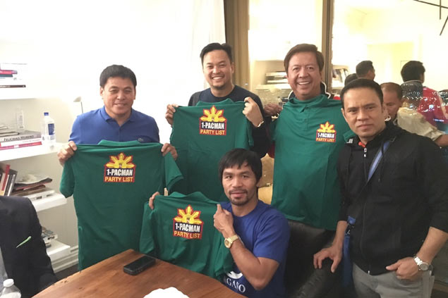 Pacquiao endorses 1Pacman bid for party list seat to help boost sports development