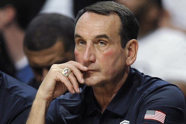 Coach Mike Krzyzewski to be sidelined indefinitely as he undergoes back surgery