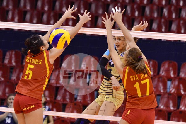 NU Lady Bulldogs impose might with straight-sets win over San Sebastian
