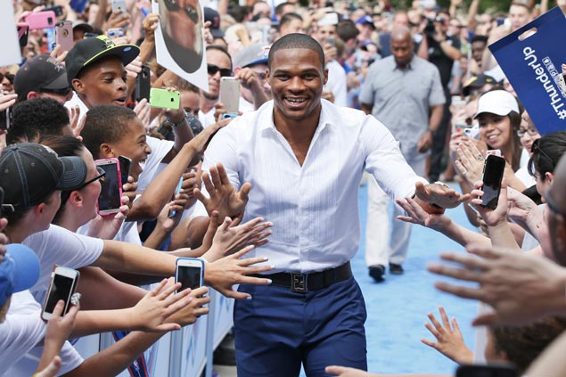 New Thunder main man Westbrook says Durant told him of move to Warriors via text message
