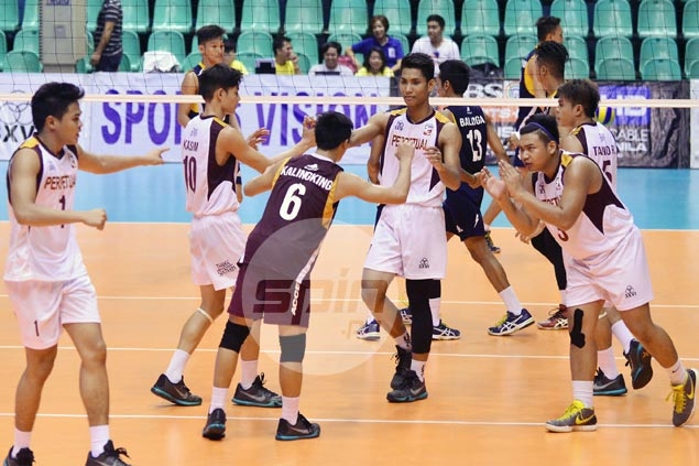 Perpetual averts collapse, beats La Salle in five sets to stay perfect in Spikers Turf