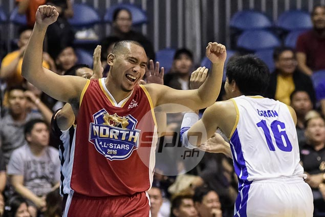 Paul Lee has a good laugh after getting away with foul in final PBA All-Star play