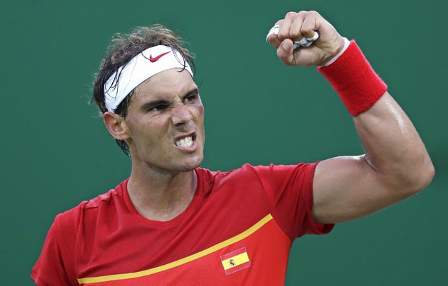 Rafael Nadal 'not 100 percent' yet with wrist injury but scores straight-sets win in Rio opener