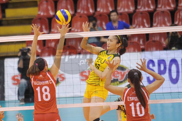 FEU shakes off sluggish start to score second win and eliminate San Beda from V-League