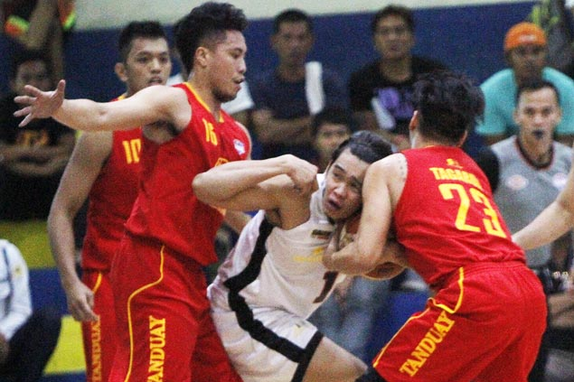 Tanduay squanders huge lead but holds on to beat Racal and force rubber match for spot in finals