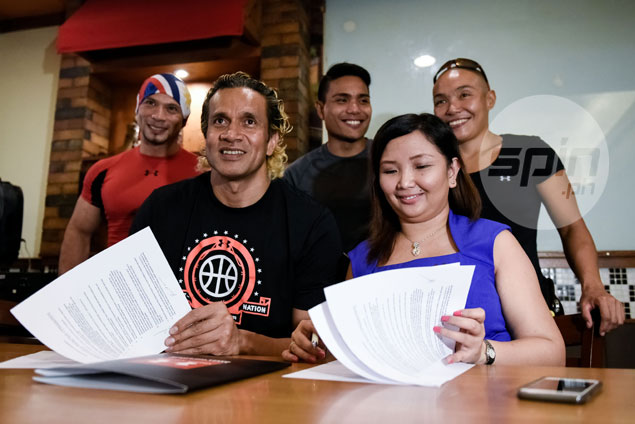 Asi Taulava, Jervy Cruz grace cage clinic, opening of Under Armour brand new house