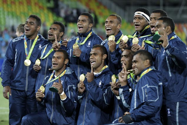 Fiji strikes gold in first Olympic medal for the country after beating Britain in rugby sevens