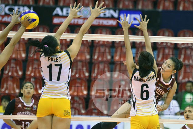 Unbeaten UP Lady Maroons tame shorthanded UST Tigresses in five-set thriller
