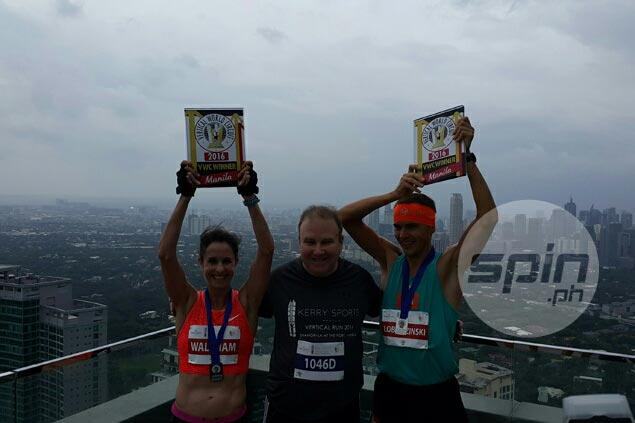 59 floors in six minutes: Athlete from Poland wins 1st Manila Vertical run at Shangri-La BGC