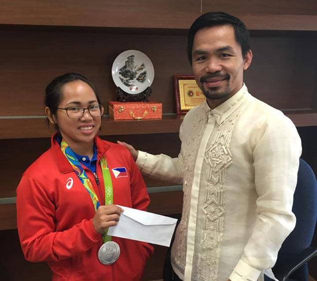 Pacquiao pledges additional incentive from own pocket to Olympic silver medalist Diaz