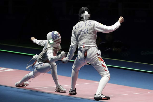Fil-American fencer Kiefer bows out in Rio after falling to unheralded Chinese foe
