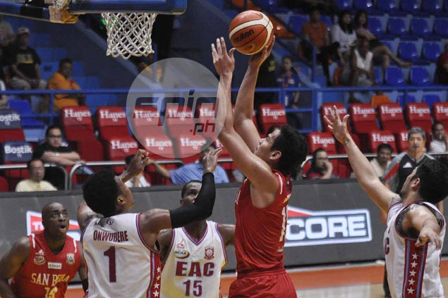 Ben Adamos' breakout game in place of injured Tankoua no surprise for San Beda coach