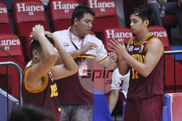 Coach Jimwell Gican hopes Altas learned something from loss to lowly San Sebastian
