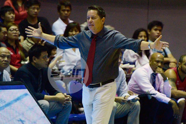 Tim Cone airs thoughts on goaltending non-call on Japeth Aguilar against Rain or Shine