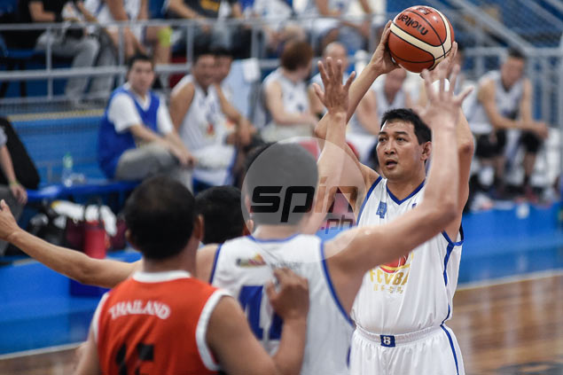 Allan Caidic-led FCVBA 50s team battles Thailand for finals berth in Asean Veterans Basketball tilt