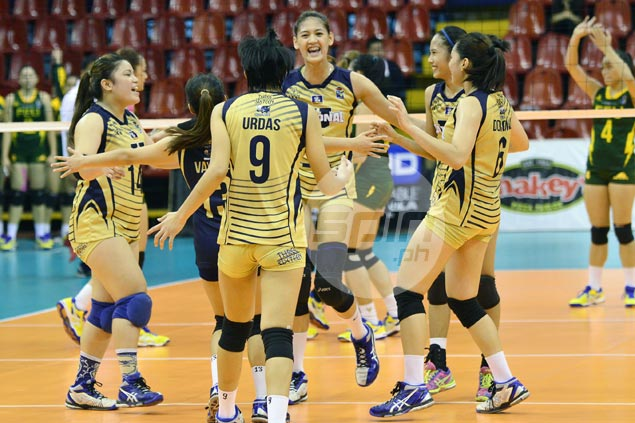 Surging NU survives five-set thriller over FEU to book first semis spot in V-League