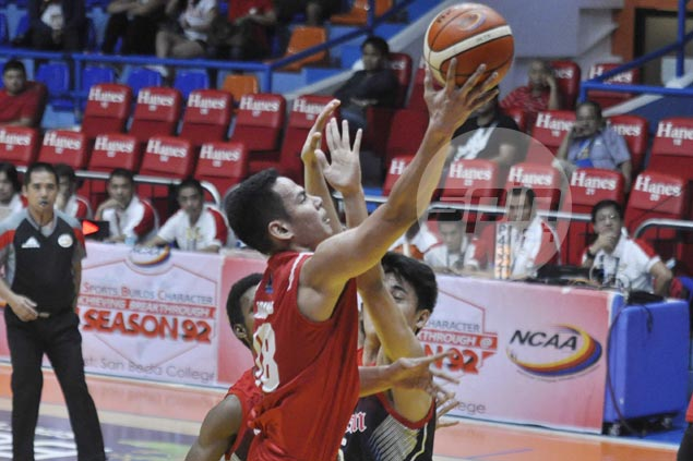 Tankoua no longer surprised by stellar play of San Beda super-sub Ben Adamos