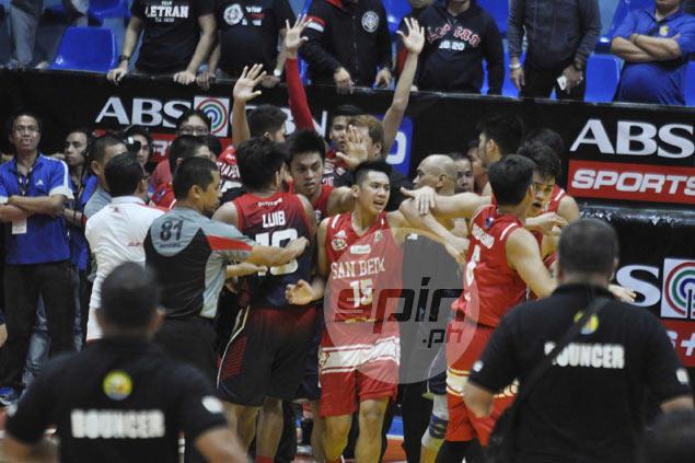 Letran coach Jeff Napa plays down commotion vs San Beda: 'Nagkilitian lang naman 'yun'