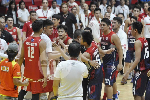 San Beda, Letran players face suspension for roles in late-game commotion in NCAA