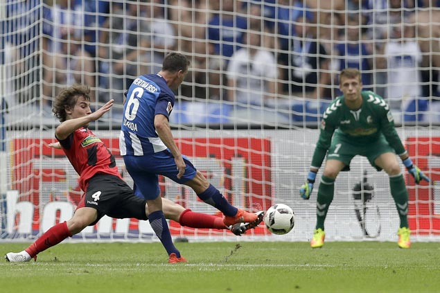 Hertha Berlin scores dramatic victory over promoted Freiburg in Bundesliga