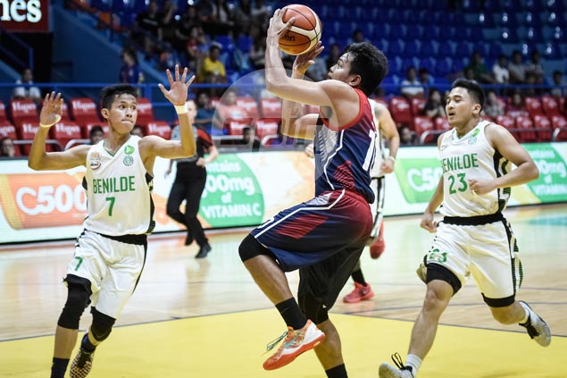Letran Knights halt five-game slide with rout of winless St. Benilde Blazers