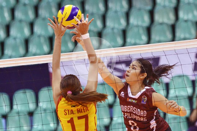 UP Lady Maroons secure semifinal spot in V-League with four-set win over San Sebastian