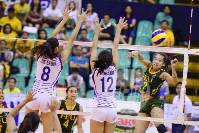 FEU wallops Ateneo to nab top spot in Final Four and send Lady Eagles to playoff for semis berth