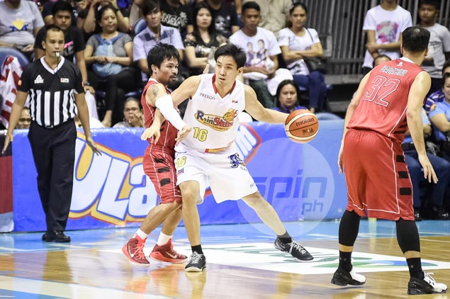 For fear of scolding from Guiao, Rain or Shine never gave Pacquiao a chance to shoot