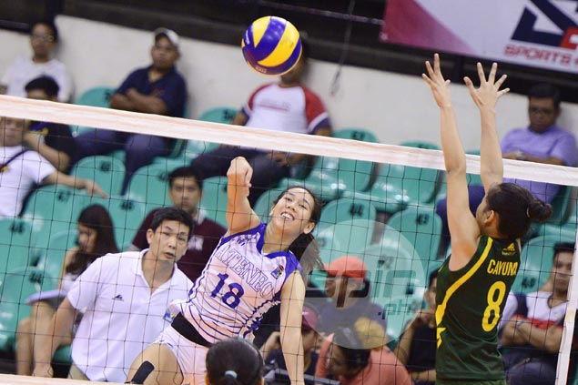 Ateneo Lady Eagles stun top seed FEU, move a win away from V-League Finals
