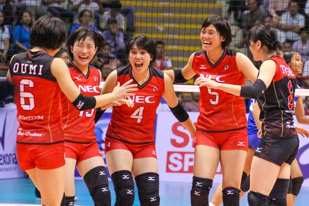 Japan's Red Rockets yet to drop a set, clobbers Foton Pilipinas in Asian club meet