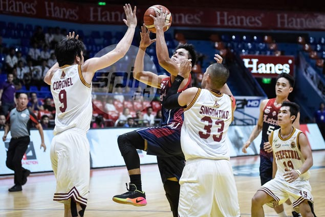 Letran Knights make it three wins in a row, down Perpetual to boost Final Four bid