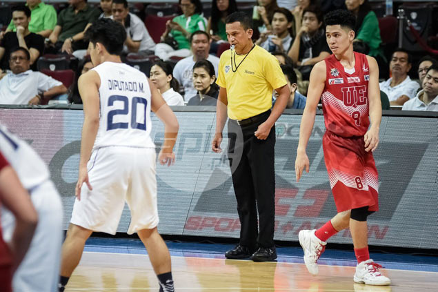 UAAP referees draw comparison with arena bouncers with new bright yellow uniforms