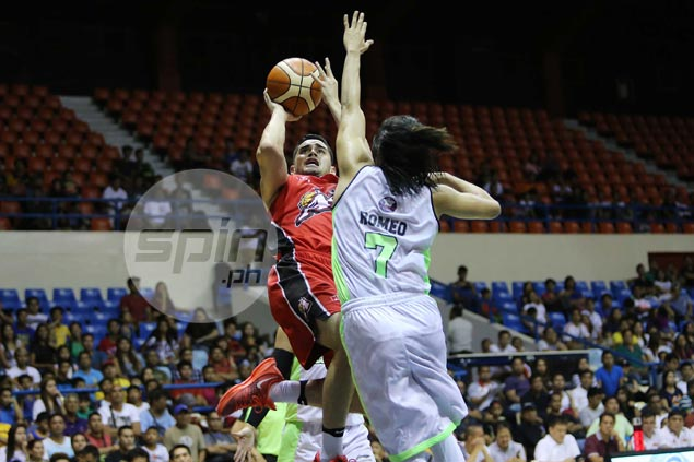 Chris Banchero holds his own against explosive GlobalPort duo Romeo and Pringle