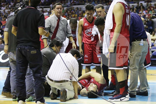 Greg Slaughter heads straight to hospital for MRI after knee injury scare