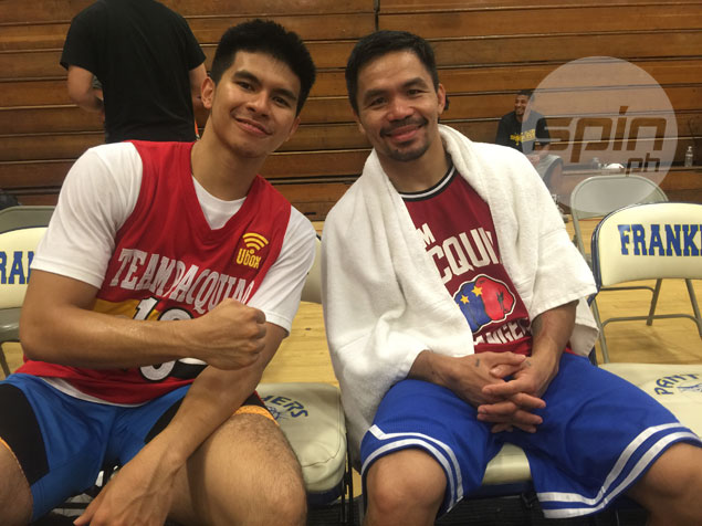 Pacquiao, Kiefer Ravena play pick-up game in LA, but no overtures for Mahindra