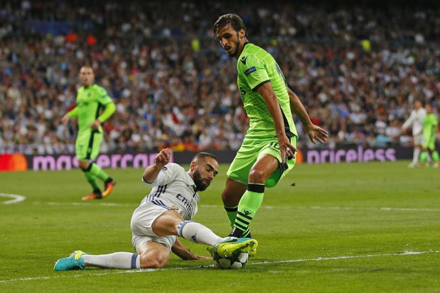 Titleholder Real Madrid leaves it late to beat Sporting in Champions League