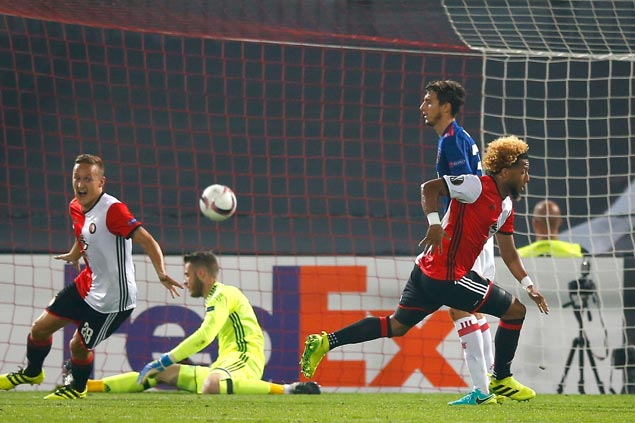Feyenoord stuns depleted Manchester United in Europa League opener