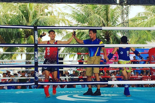 PH muay fighter Philip Delarmino settles for silver in Asian Indoor and Martial Arts Games
