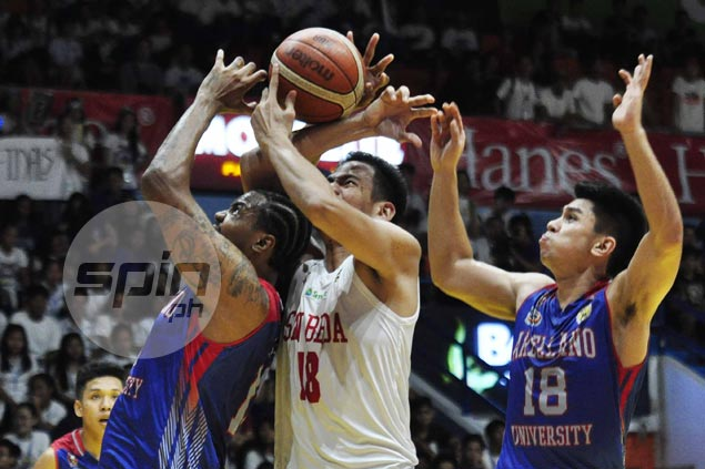 Ben Adamos comes of age, steps up for San Beda in absence of injured Tankoua
