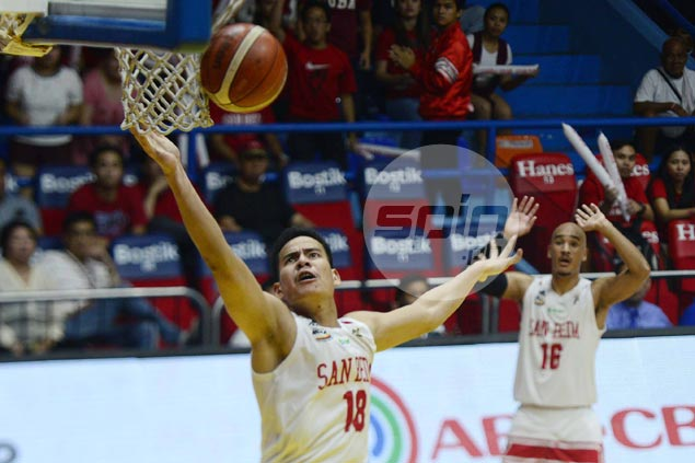 San Beda's Adamos braces for 'bloody' match vs bigger Perpetual frontcourt