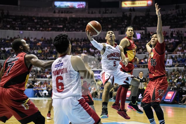 LA Tenorio's instincts enable Ginebra to regroup in wild play, set up Aguilar for game winner