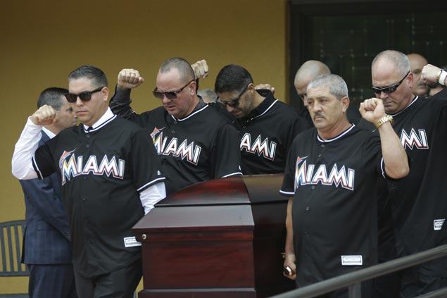 Tributes pour for Jose Fernandez as Marlins ace remembered as 'larger than life' at funeral