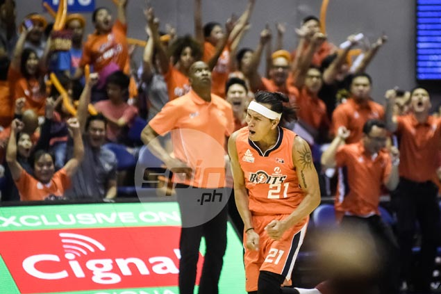 Meralco on cusp of first finals appearance withwin over TNT in Game Three thriller