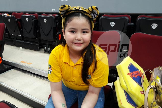 UST coach's daughter Reese Sablan quite a charmer and scene stealer on the sidelines
