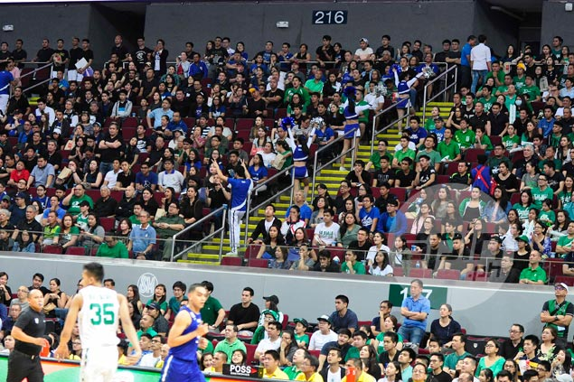 Good number of Ateneo, La Salle fans ignore 'Wear Black' call, say politics and sports mustn't mix