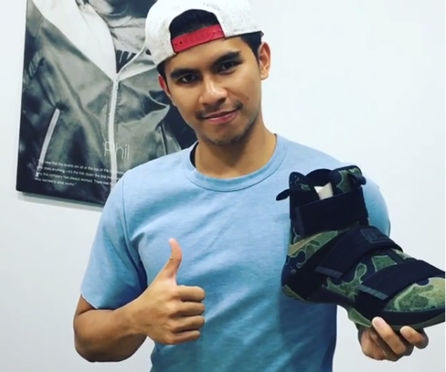 Kiefer Ravena receives personal note, Nike Soldier X 'Camo' shoes from 'King' LeBron James