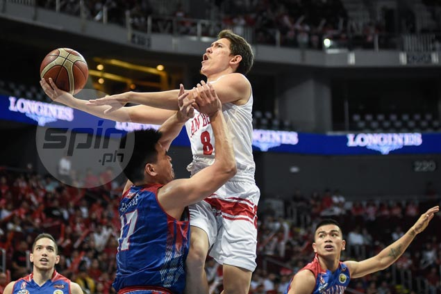 Robert Bolick comes up clutch as San Beda holds off Arellano to close in on NCAA title